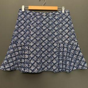 Michael Kors Blue Print Skirt
